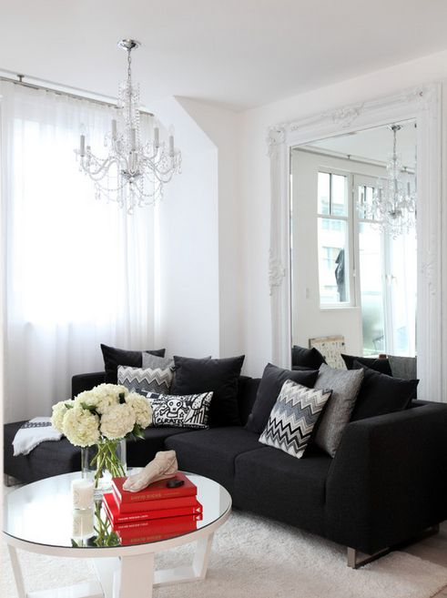Epic Contemporary Living Room Design Interior With Black Sofa And Vintage  Large Throw Pillows Decoration Ideas Part 75