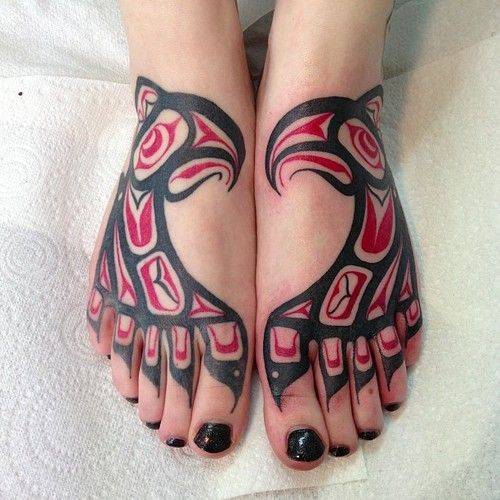 haida tattoos, muy original!