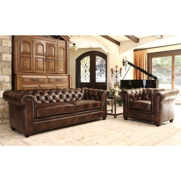 Abbyson Living Tuscan Premium Italian Leather Sofa And Armchair Set    Overstock™ Shopping   Big Discounts On Abbyson Living Living Room Sets Part 69