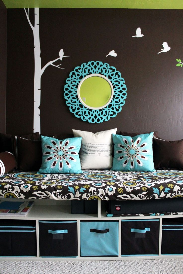 Turquoise and dark brown living room - Tween Girl Room Jackie Any Ideas You Can Use To Add To Your New Room Turquoise Girls Bedroomsdark Brown