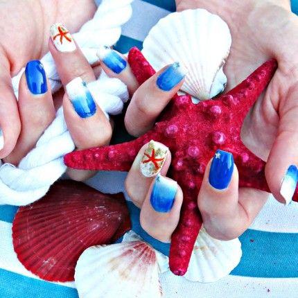 Nail Art estiva a tema marino