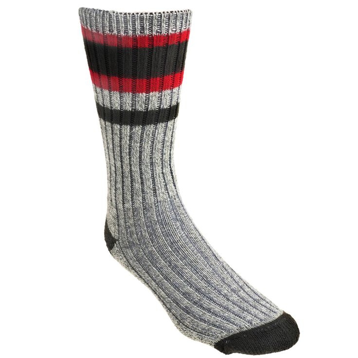 Wigwam Socks Unisex F5309 556 American-Made Grey/Red Lakewood Midweigh