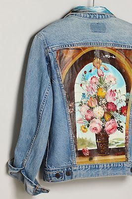 twobutterflies: Anthropologie Inspired Denim Jacket (this is the inspiration photo)