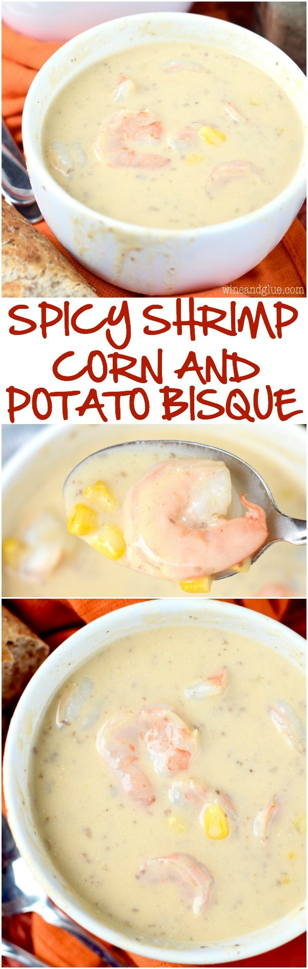 This Spicy Shrimp Corn and Potato Bisque is simple to make, but so packed with flavor! It's going to be come a family favorite!: