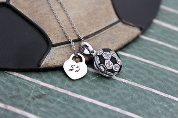 Check out this item in my Etsy shop https://www.etsy.com/listing/256539009/soccer-mom-necklace-soccer-girlfriend