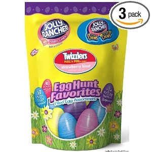 Hershey's Easter Candy Filled Egg Assortment (Jolly Rancher Hard Candy, Jolly Rancher Fruit Chews & Twizzlers Pull 'n' Peel), 4.8-Ounce Bags (Pack of 3) $15.78