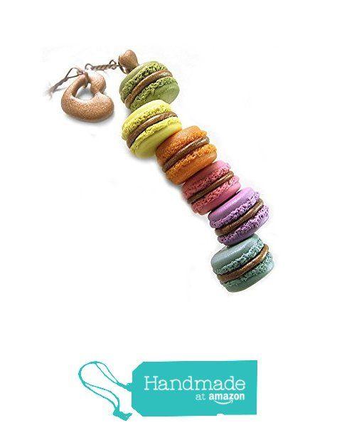 Rainbow Macaron Necklace ~ Food Jewelry from HugsKissesMINI http://www.amazon.com/dp/B016468LSQ/ref=hnd_sw_r_pi_dp_Dfjrwb0GWAV79 #handmadeatamazon