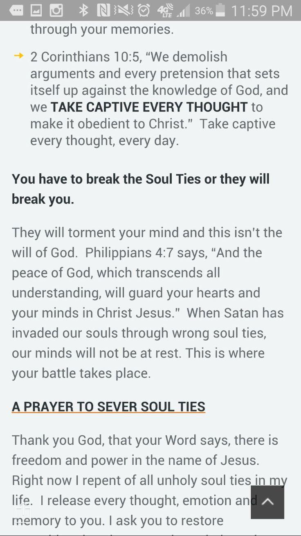 How to break soul ties