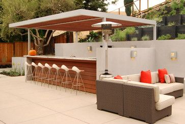 Modern Outdoor Kitchen Design Ideas, Pictures, Remodel and Decor