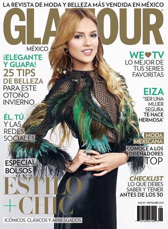 Eiza González en nuestra portada de la edición de septiembre 2013.