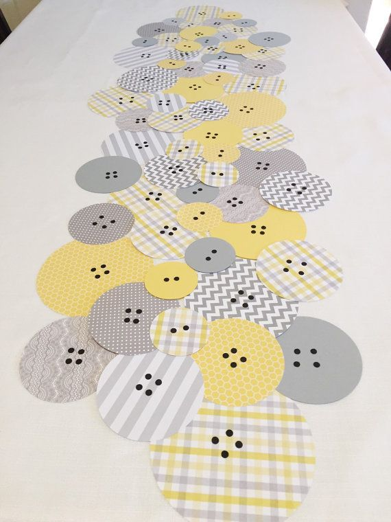 Button Baby Shower Table Runner - Cute as a Button Baby Shower - Button Decor - Button Baby Shower Decorations - Baby Shower Decorations