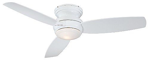 Concept Traditional Flush Ceiling Fan with Optional Light by Minka Aire Fans at Lumens.com