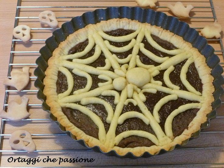 Halloween  Crostata ragnatela Spider Web Tart