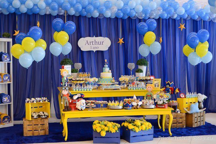 Meu Dia D Mãe - 01 ano Arthur - Tema Pequeno Príncipe - Fotos Priscila Tenório…