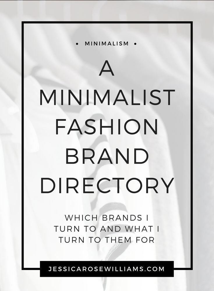 A Minimalist Fashion Brand Directory. A list of my favourite minimal style stores and what I turn to them for.