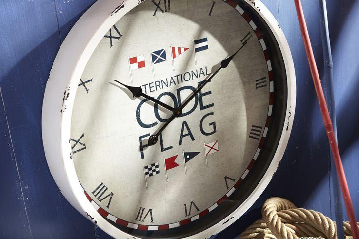 #Horloge drapeaux. #Collection Régate. #AMADEUS.