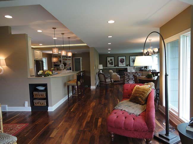 1950s Rambler Remodel Turns Focus On Kitchen Remodelranch House Remodelopen Plan