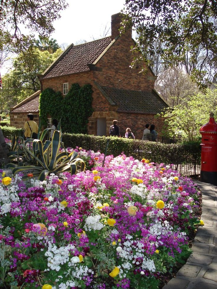 Captain Cook's Cottage, Fitzroy Gardens, Melbourne, Australia. The cottage was originally built in Yorkshire, England. The English explorer and navigator Captain James cook landed in Botany Bay in 1770, but the cottage got to Melbourne in 1934 when it was shipped from England. Originally the cottage stood at Great Ayton, North Yorkshire. It was built by Cook's father in 1775. Half British/Australian