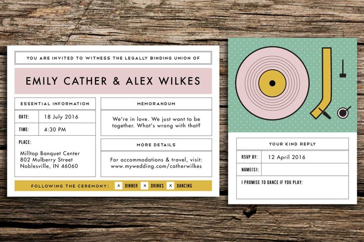 Moonrise Kingdom Wedding Invitation Suite // Wes Anderson Wedding Whimsical Invitation Eclectic Wedding Retro Record Player Pink Mustard by factorymade on Etsy https://www.etsy.com/listing/211544315/moonrise-kingdom-wedding-invitation