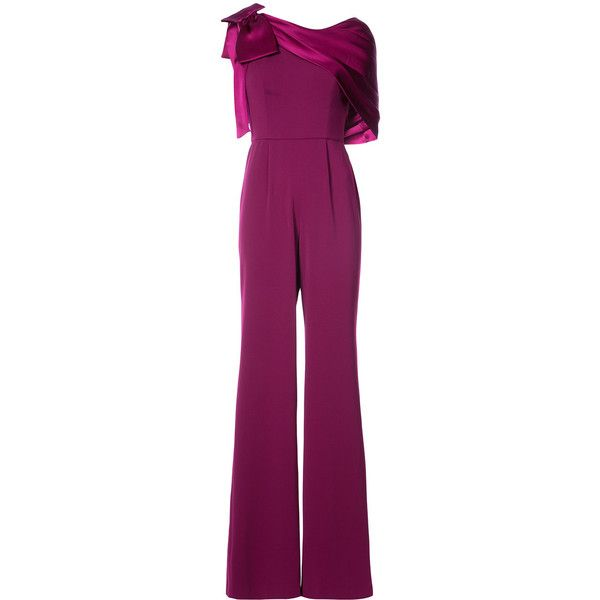 Jay Godfrey ribbon detail jumpsuit (3,245 CNY) ❤ liked on Polyvore featuring jumpsuits, silk jumpsuit, plum jumpsuit, jay godfrey, jay godfrey jumpsuit and purple jumpsuits