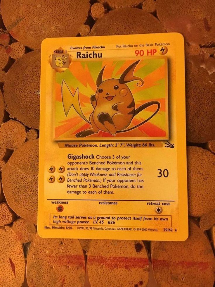 Raichu Pokémon Card | eBay
