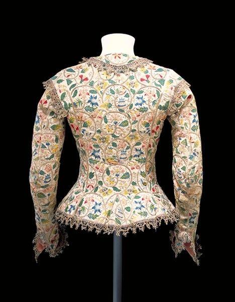 1620 Jacket worn by Margareth Laton in her Gheeraerts portrait (Victoria and Albert Museum)