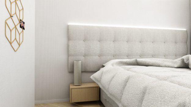 Návrh spálne bytu - interiér Slnečnice, Bratislava - Interiérový dizajn / Bedroom interior by Archilab