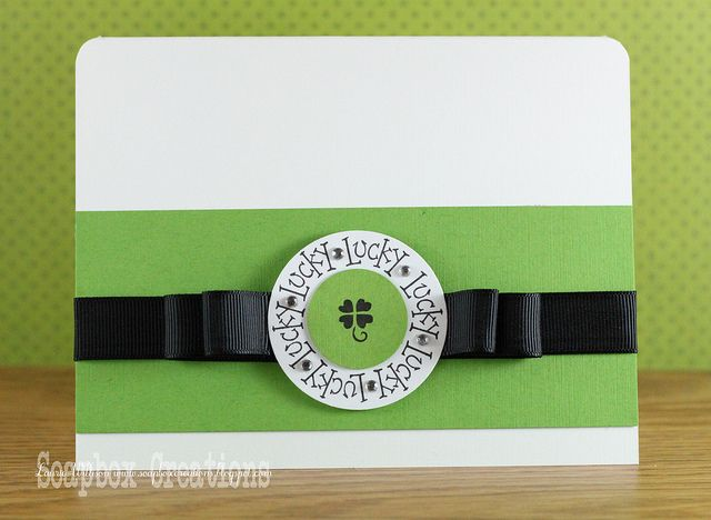 DeNami Lucky Circle Shamrock card by @Laurie Willison
