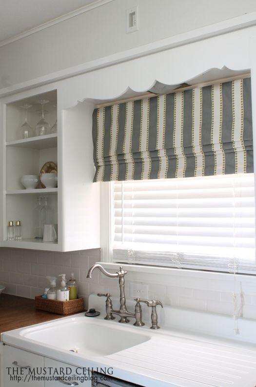 Get Inspired 15 DIY Window Treatments Kitchen Window Valances Kitchen Sink Window Kitchen