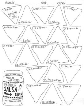 Spanish regular -AR verb practice ~verb conjugation ~trans