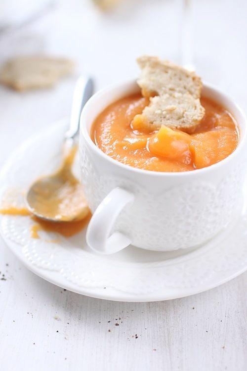 Velouté de carottes, panais et patate douce