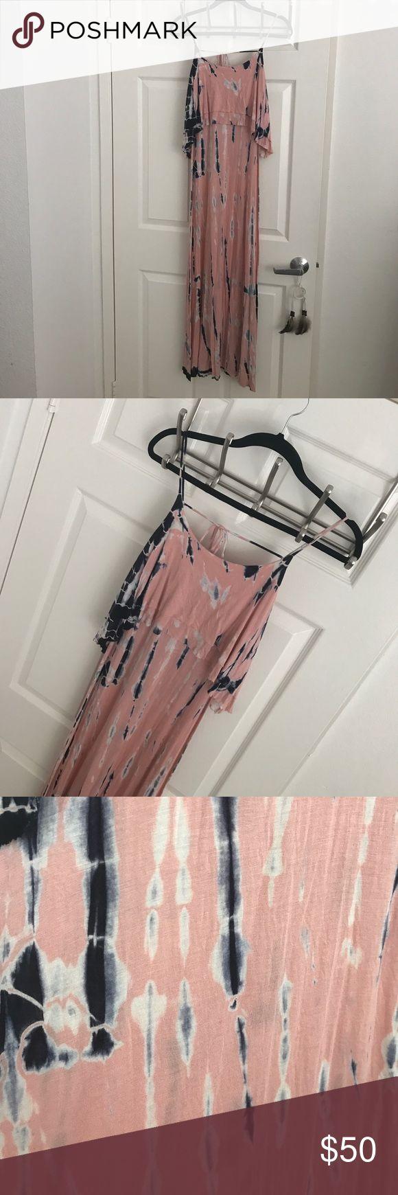 PINK TIE DYE MAXI DRESS SIZE SMALL PINK TIE DYE MAXI DRESS SIZE SMALL freeloader Dresses Maxi