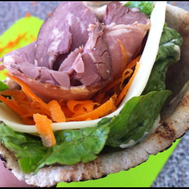 Beef and salad wrap :)