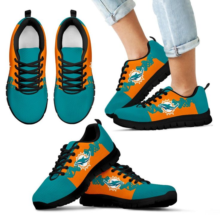 Doodle Line Amazing Miami Dolphins Sneakers V1 – Best Funny Store