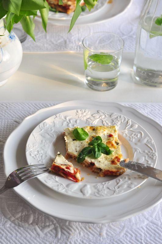 Krucha tarta z pomidorami i ricottą