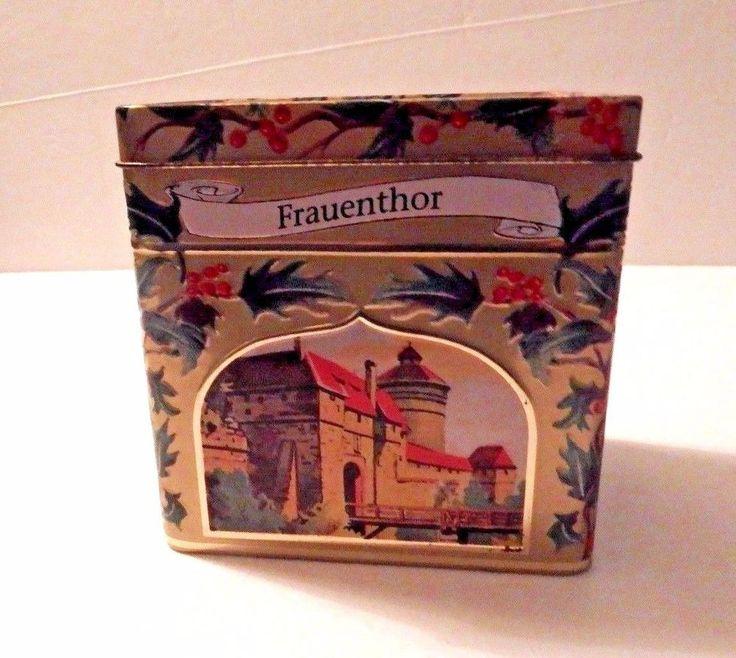 Music Box Cookie Tin Lambertz Aachen Germany