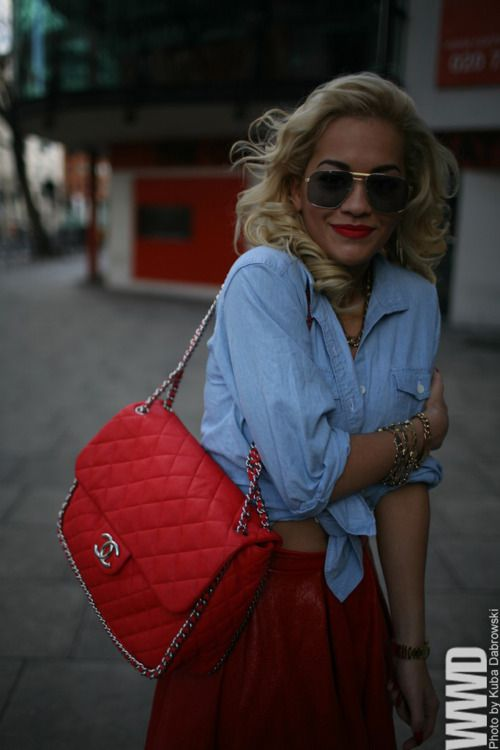 Red Blondes, Chanel Bags, Style, Redchanel, Red Lips, Red Chanel, Ritaora, Rita Ora, London Fashion Weeks