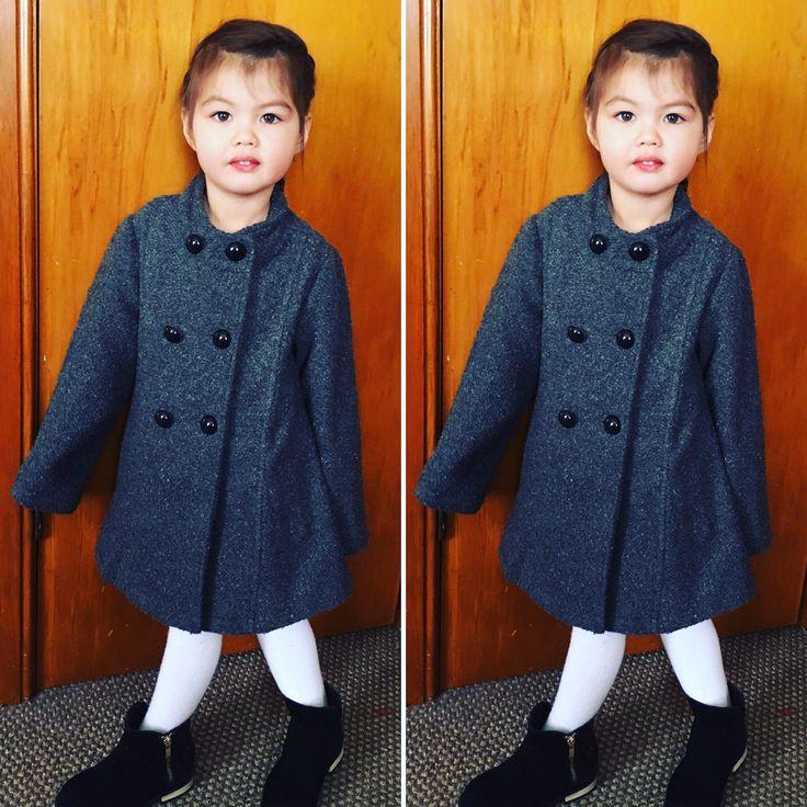 Winter fashion for little girls
