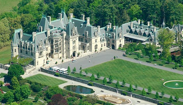 1889 95 Biltmore Estate Aerial View Built By George