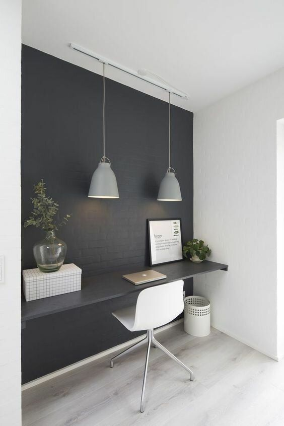 Home Office Space, Home Office Decor, Office In Bedroom Ideas, Office Interior Design, Office Interiors, Office Designs, Bureau Design, Building A New Home, Build Your Dream Home