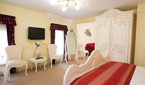 One of the beautiful bedrooms at Highdown Hotel