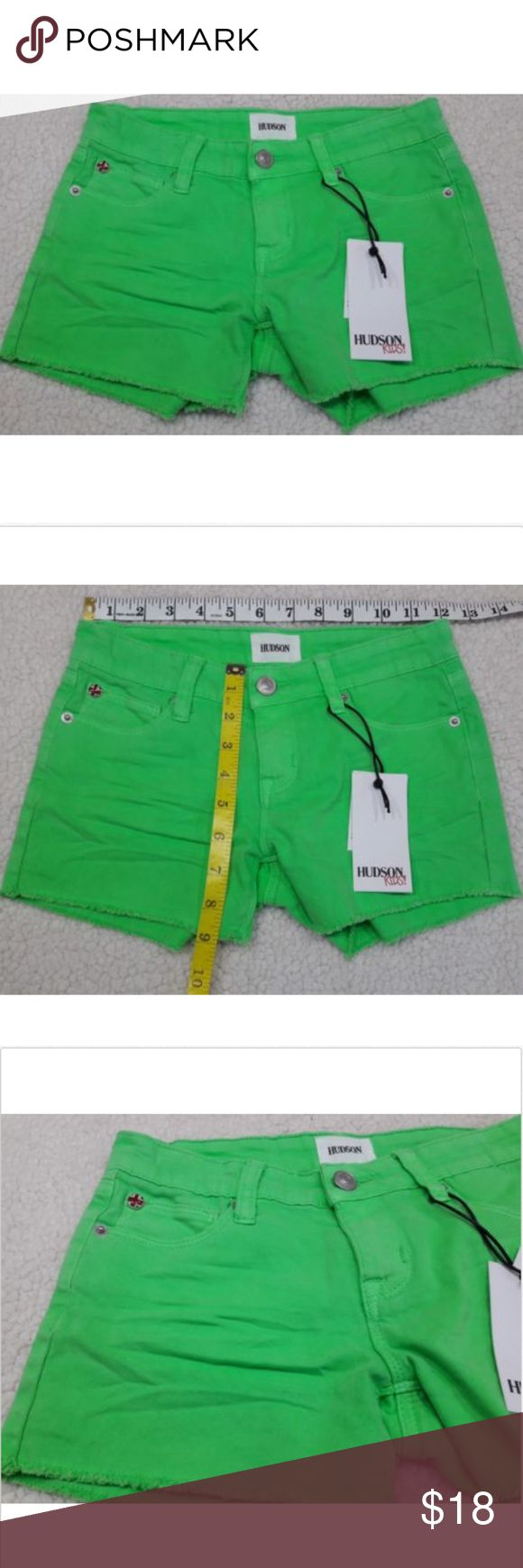Hudson Kids Neon Green Shorts Size 10 NWT Hudson Kids Neon Green Shorts Size 10 NWT Hudson Jeans Bottoms Shorts