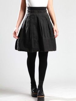 COTTON SKIRT WITH RESIN COATING
