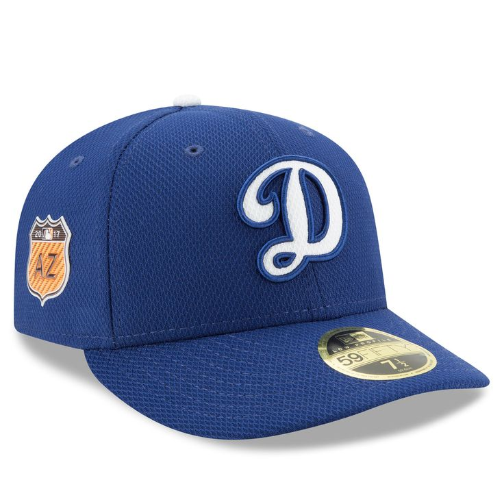 Men's Los Angeles Dodgers New Era Royal D Logo 2017 Spring Training Diamond Era Low Profile 59FIFTY Fitted Hat