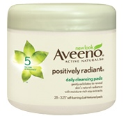 Aveeno Positively Radiant Cleansing Pads. Great exfoliation when your skin is feeling rough and dull.