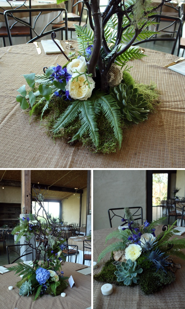 crosspollination: mossy green and blue wedding at barr mansion {Pollen Floral Art}