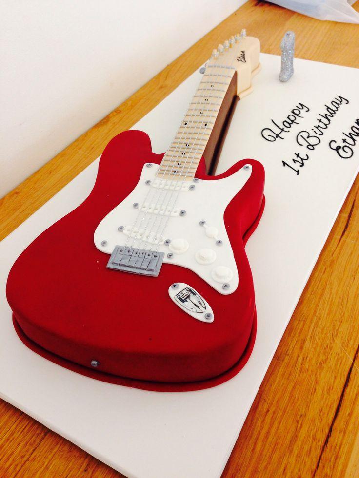 Guitar Birthday Cake by Ab Fab