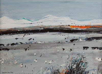 Scottish Artist Hamish MacDONALD-Cold Day at Beinn Alligin
