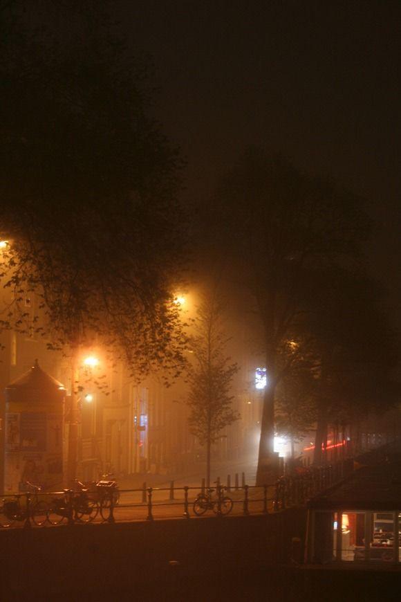 Misty Night in Amsterdam