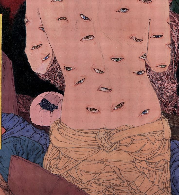 Takato Yamamoto - Japanese Illustration - Heisei Estheticism - Eyes are everywhere...